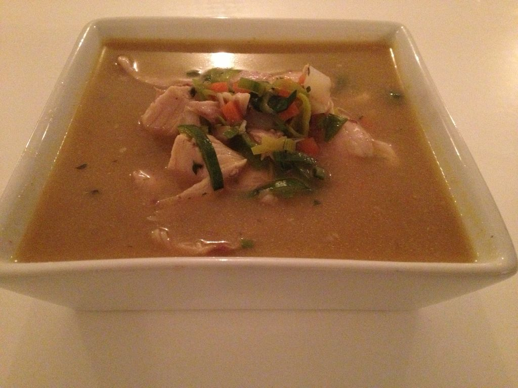 Cremet hønsekødsuppe